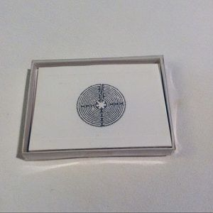 Other - Note Cards Silver Embossed Chartres Labyrinth